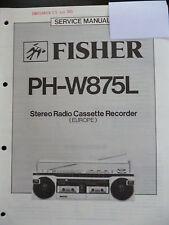 Original Service Manual  Fisher Stereo Radio Recorder PH-W875L