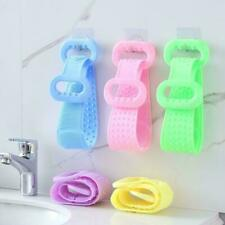 Silicone Bath Towel Body Brush Belt Exfoliating Scrub Back Massage Brush I5G0