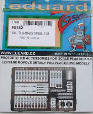 Eduard 1/48 FE862 Colour Steel Etch UH-1D Huey Seatbelts (Kitty Hawk kit)
