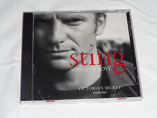 """STING """" SONGS OF LOVE """"  A VICTORIA'S EXCLUSIVE CD (LIKE NEW)"""