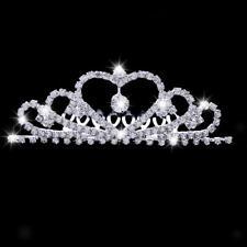 élégant strass coeur princesse reine couronne diadème maison bijoux de