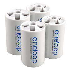 Eneloop Battery Converter Battery Adaptor Holder AA R6 to D R20 D-Size - 4 Pcs