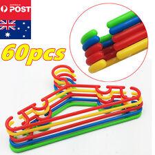 60pcs Baby Kids Plastic Children Trousers Hangers Hook Coat Clothes
