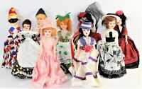 """Lot Of 9 Blue Bonnet American Heritage 8"""" Inch Collector's Dolls 1970's Vintage"""