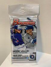 (1) 2020 Topps Bowman Baseball Factory Sealed Unopened Jumbo Fat Pack ~ 19 Cards