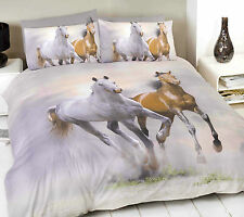 Horse Duvet Set photgraphic Printed Double Bed Quilt Cover Set