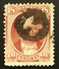 """Hawaii 34 Superb SON Example of Scarce Negative """"H"""" Cancel"""