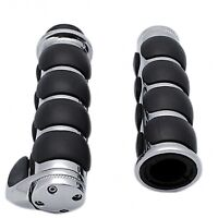 """quality motorcycle billet handlebar grips 1"""" chop bobber streetfighter project"""