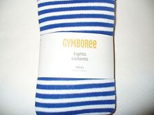 GYMBOREE Girls Stripes and Anchor Tights - Striped Tights  Size XS(4) NEW
