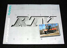 2008 KUBOTA RTV900 RTV1100 UTILITY VEHICLE CATALOG BROCHURE VERY NICE
