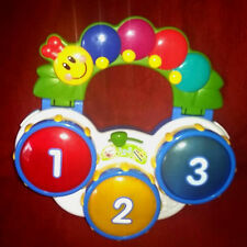 Baby Einstein Discover Drums Tri-Lingual 3 Play Modes Lights Up Music Sounds