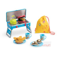 """American Girl MY AG CAMP TREATS SET for 18"""" Doll Retired Stove Food Melon NEW"""