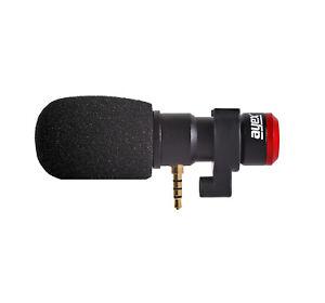 ayex-MC06 Smartphone-Richtmikrofon mit Schaumwindschutz perfekt für Mobilgeräte