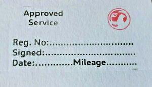 Generic Vauxhall Garage Mechanics Service History stamp  multicolor