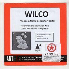 (HC568) Wilco, Random Name Generator- 2015 DJ CD