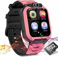 Kids Smart Watch for Girls Boys, Child Smartwatches for Kids Educational, (Pink)
