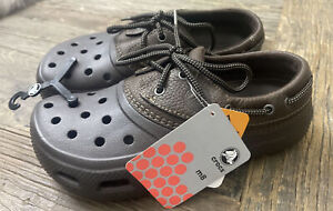 Crocs Islander Brown w/Brown Leather Sz 8 Men's / Women's Sz 10 Brand New/No Box