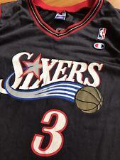 Vintage Champion Allen Iverson Philadelphia 76ers Jersey NBA Basketball Large 44