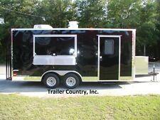 New 85x18 85 X 18 Enclosed Concession Food Vending Bbq Trailer