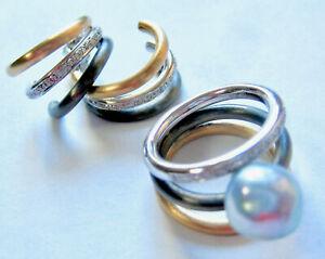 VINTAGE 18K MULTI TONE GOLD  PEARL & DIAMOND RING/EARRINGS SET (27.3 GRAMS)