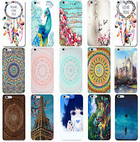 Fashion Print Hard Case Shell Cover Skin Pouch For Apple Iphone 4 5 6 7s Plus