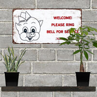 "Piggly Wiggly Grocery Store Ring Bell Man Cave Metal Sign Repro 6x12"" 60555"