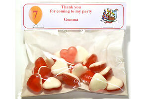 5 x Sweet bags with personalised top choice off sweets for all occasions