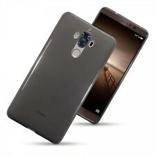 Huawei Mate 9 Case, Genuine Tech 2 Flex Gel TPU Rock Cover Smoke Black