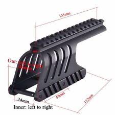 1pc Tactical Military Remington 870 Picatinny Rail Saddle Scope Mount Black