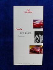 Honda Civic Coupe - Preisliste - Prospekt Brochure 01.1999
