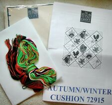 The Craft Collection Autumn / Winter Cushion front KIT 14ct  white Aida