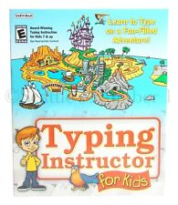 NEW Typing Instructor Software for Kids Learn Lessons Challenges Fun+Educational