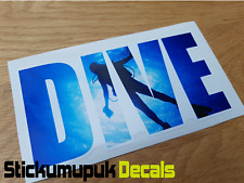 Dive, Scuba diving Snorkeling Car Van Bumper Window Laptop Sticker Decal 160mm