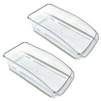 2er Set Kühlschrank Organizer Box Transparent | Kühlschrankbox | Schubladenkorb