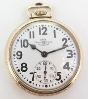 .Vintage 1942 Ball 999B Official RR Standard 16s 21 J GF Pocket Watch