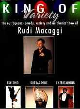 Rudi Macaggi King of Variety (DVD) comedy, circus acrobat, autographed Italian