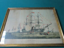 """The Queen's Birthday. The """"James Watt,""""CHROMOLITHOGRAPH 1856 BY GEORGE LEIGHTON"""