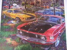 FORD MUSTANG MACH 1 ART 1969 1970 1971 72 351 428 COBRA JET LOUVERS DRAG PACK C4