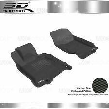 Fit 07-15 Infiniti G35 G37 Q40 Q60 All Weather Floor Mat Front Set Kagu Black