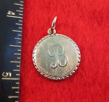 14KT GOLD EP LETTER B ROUND INITIAL DISC CHARM