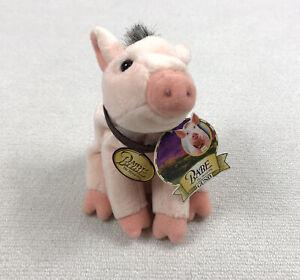 "Vintage 90s Babe Pig Plush Beanie 1998 Gund 5"" Beanbag Plush Toy Vtg With Tag"