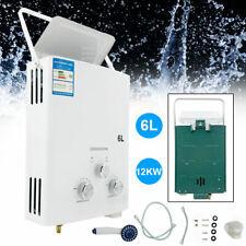 6L Tragbarer Gas Durchlauferhitzer für Dusche Bad Warmwasser Camping Dusche DHL