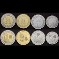 Libya 1 5 10 20 50 100 Dirhams 1//4 /& 1//2 Dinars 1979 BU Unc 8 Pcs Coin Set
