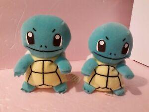 "Two Squirtles Vintage Pokemon  5"" Plush 1998"