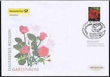 BRD 2010: Die Gartenrose! Post-FDC der duftenden selbstklebenden Nr. 2675! 1702