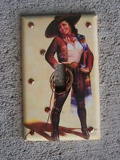 Mexican Calendar Girl Cowgirl Vaquera Switchplate Cover with Sequins