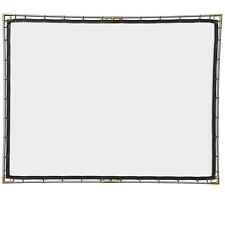 Carl's FlexiWhite, 4:3, 9x12, Hanging Projector Screen Kit, White