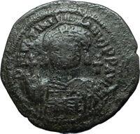 JUSTINIAN I the GREAT 527AD Cyzicus Half Follis Ancient Byzantine Coin i66081