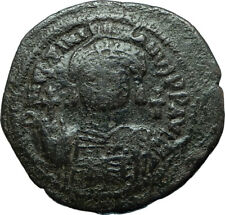 JUSTINIAN I the GREAT 527AD Cyzicus Half Follis Ancient Byzantine Coin i66081