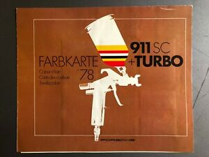 1978 Porsche 911SC & 911 Turbo FACTORY issued Color Chart Folder / Brochure RARE